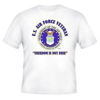 U.s.air Force Veteran Emblem Freedom Is Not Free White Shirt