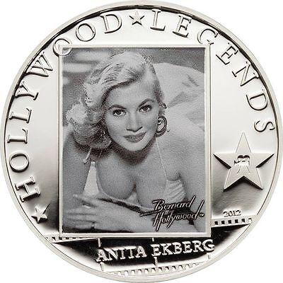 2012 Cook Is Large Silver 5$ Hollywood Legends-anita Ekberg Coins & Paper Money