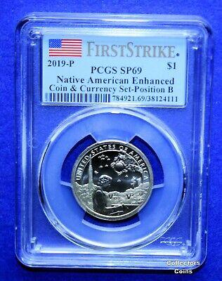 2019 P Enhanced Native Sacagawea Dollar $1 PCGS SP69 FIRST STRIKE Position B