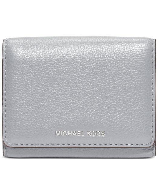 0cef4f7ffc128e Michael Kors Liane Small Bifold Pebble Leather Wallet Optic White ...