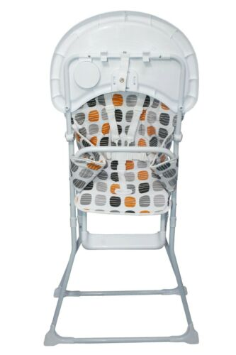 Baby Foldable High Chair Highchair W// Padded Seat Feeding Tray *Various Designs*