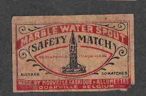Ancienne étiquette allumette Belgique NN37 Monument ssDsYEx5-09110105-101925220