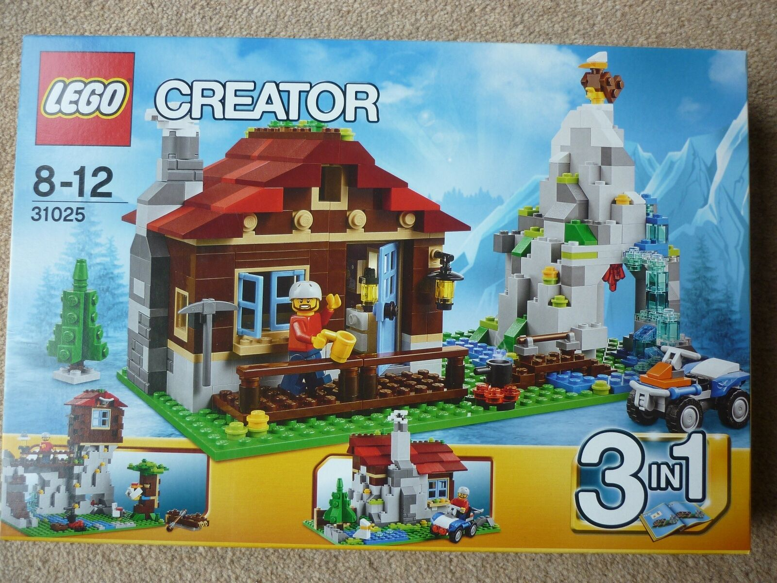 NEW SEALED LEGO 31025 CREATOR 3 IN 1 MOUNTAIN HUT   LODGE   LOOKOUT