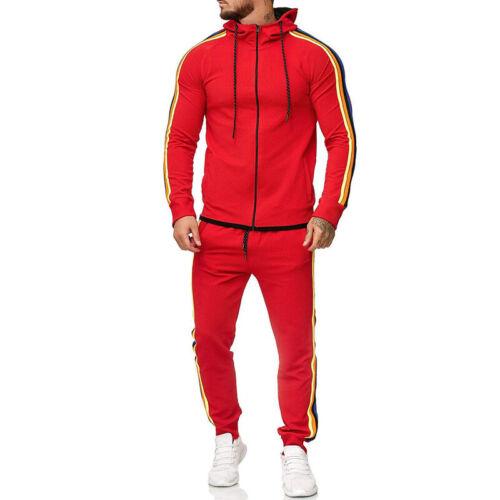 Herren Trainingsanzug Hoodie Jogginganzug Kapuze Zipper Jacke Hose Sport Anzug