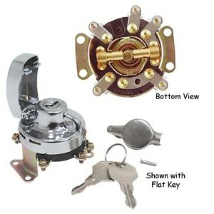 mechanical ignition switch harley fat bob dash big twin