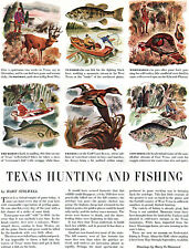 Texas Hunting and Fishing HART STILWELL White Bass HARRY O DIAMOND 1948 Article