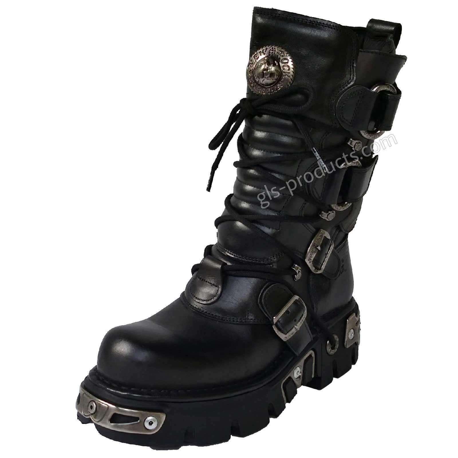 New Rock 575 Stiefel Gothic Streetfighter Style Darkwear Metal genuine leather top