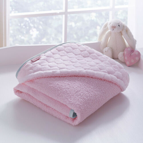 Clair de Lune Marshmallow Luxury Hooded Baby Towel Pink
