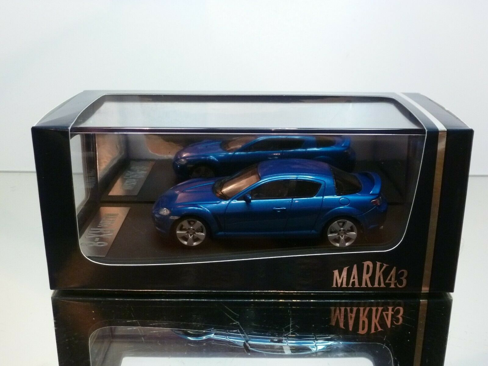 MARK43 MAZDA RX-8 TYPE S - blueE METALLIC 1 43 - VERY GOOD CONDITION IN BOX