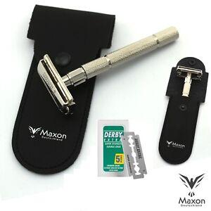 MAXON-MG3901-Rasierhobel-Butterfly-Razor-Rasierer-Safety-5-Rasierklingen