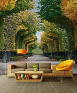 3D Trees Road 6118 Wallpaper Murals Wall Print Wallpaper Mural AJ WALL UK Kyra