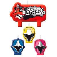 Power Rangers Ninja Steel Mini Candles Boys Birthday Party Supplies Cake Topper