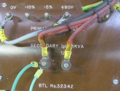 NO NAME 32342 5KVA 5 KVA 1PH 480V PRIMARY 120V SECONDARY TRANSFORMER