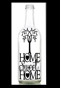 Vinyl Decal Sticker for Wine bottle diy MERRY CHRISTMAS WORD SHAPE TREE