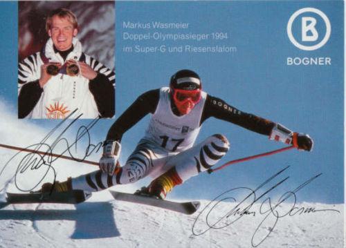 Audace Markus Wasmeier Autografo Originale Su Carta 10x15cm