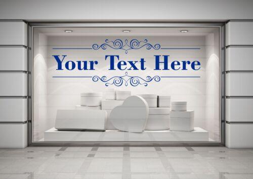 Choice of font Decal Sticker Art Custom Restaurant Cafe Business Bar Shop Sign
