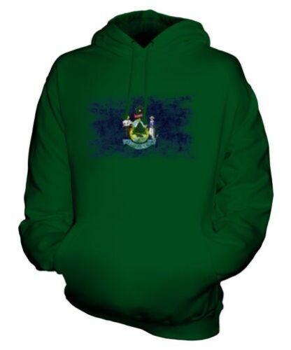 State Maine Unisex Del Felpa Jersey Bandiera Effetto Consumato Maglia Regalo adRqdZ