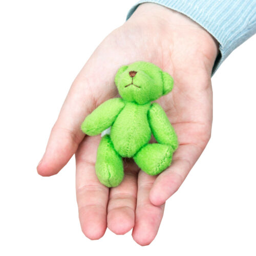 10 X GREEN Teddy Bears Gift Present Small Cute Cuddly Adorable NEW