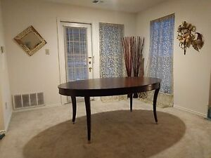 Image Is Loading Ethan Allen Hathaway Dining Table Mahogany With Zebra