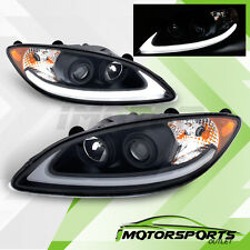 [Plank Style LED DRL] 2008-2016 International ProStar Black Projector Headlights