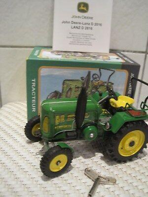 Unsicher Gehemmt Funktion Die Neueste Mode Verlegen Blechspielzeug Traktor Schlepper John Deere Lanz D2416 1:25 *neu* M Befangen Selbstbewusst
