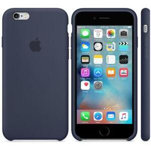 Veritable-Apple-Silicone-Etui-pour-IPHONE-6-Plus-6s-Plus-Bleu-Nuit-Neuve