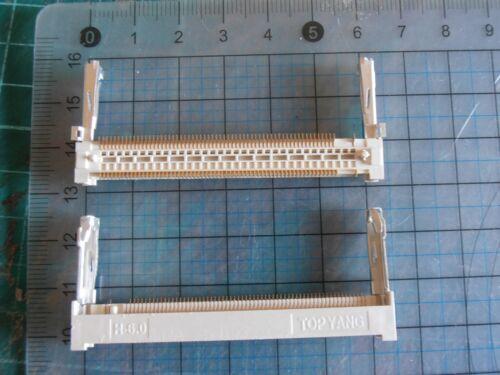 4pcs 124pin card edge slot socket for Mini PCI  H=6mm TOPYANG