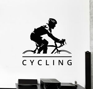 g749 Vinyl Wall Decal Bicycle Race Cycling Cyclist Bike Sport Stickers Mural