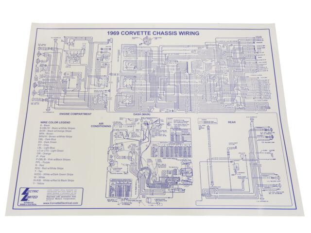 1969 Corvette Wiring Diagram For Sale Online Ebay