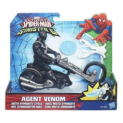 Marvel Spiderman Sinister 6 Web City Cycle Vehicle Spider-Man /& Agent Venom New