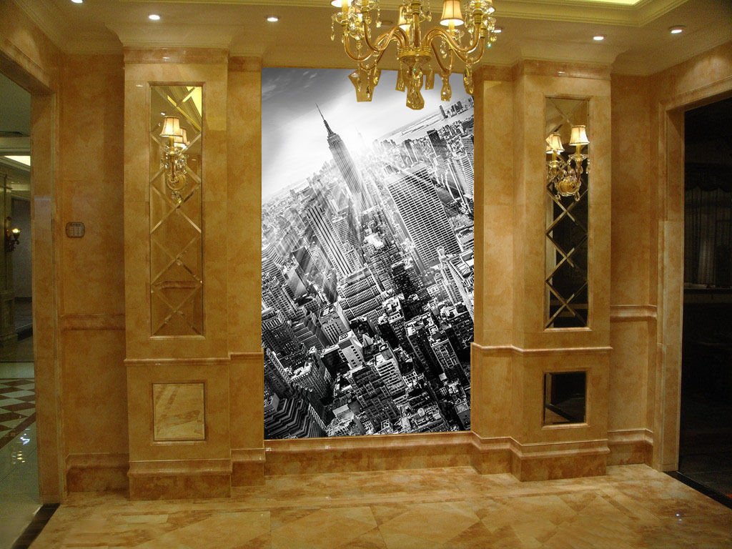 3D High-rise building 1 WallPaper Murals Wall Print Decal Wall Deco AJ WALLPAPER