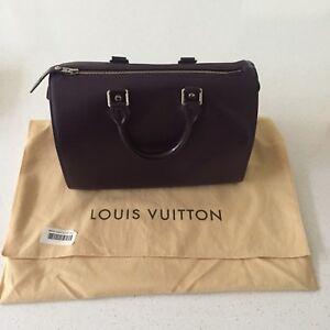 b11025855d79e Louis Vuitton Speedy 25 Black Epi Silver Hardware (MINT Condition ...