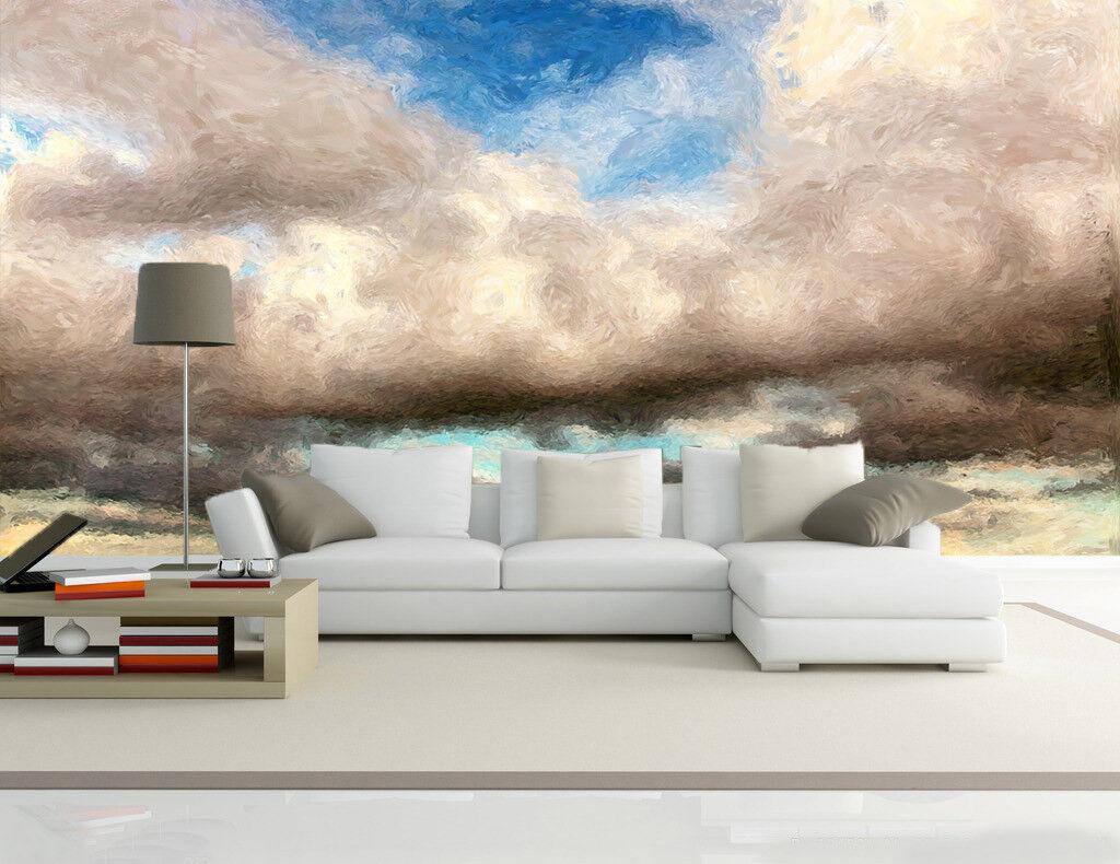 3D whitee Wolken Malerei 974 Tapete Wandgemälde Tapete Tapeten Bild Familie DE