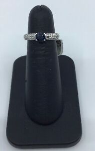 14k-White-Gold-Sapphire-and-0-45ctw-Diamond-Cocktail-Ring