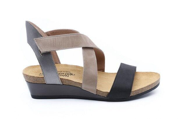Naot Vixen Mujer Zapatos Sandalias Cuña De Cuero Nuevo Nuevo Nuevo Plana Correa Con Tiras Puntera Abierta  Envíos y devoluciones gratis.
