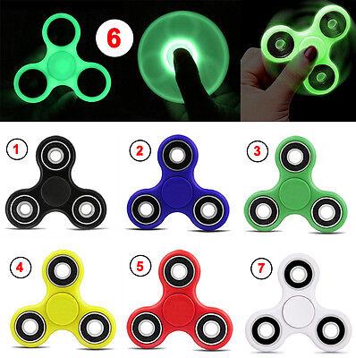 Luminous 3D Hand Spinner Tri Fidget Focus Desk Toy Kid/Adult Fingertips Gyro