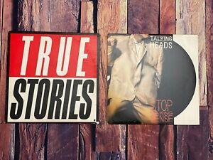 Talking-Heads-TRUE-STORIES-STOP-MAKING-SENSE-LP-Vinyl-LOT-2-Records-Album-Sire