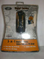 Cyber Gear Black 3 In 1 Digital Camera Video Camera Pc-web With Preview Screen