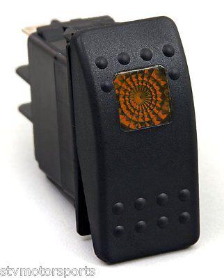 20A 12V Orange Light Rocker Switch  Polaris RZR Maverick Commander