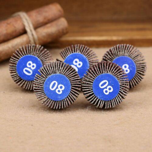 80# Grit ponçage papier de verre Flap Disque De Meulage Roue Puissance Outils Rotatifs 5PCS