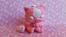 Long Hair Cat Pink Sparkle Paisley * OOAK Hand Painted Custom Littlest Pet Shop