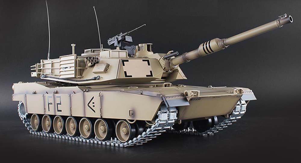 Heng lunga 1 16 Stati Uniti M1A2 Abrams  BB Scaliente RC autoRO ARMATO DESERTO tracce di mettuttio in mettuttio scatola del cambio  alta qualità genuina