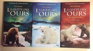 LA QUETE DES OURS tomes 3 et 5 + tome 1 cycle 2 Erin Hunter Roman 3 livres  | eBay