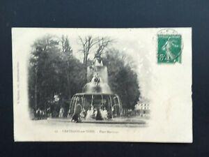 Carte-Postale-Ancienne-de-1913-CHATILLON-SUR-SEINE-Place-Marmont