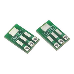 2Pcs SOT89 SOT223 to SIP3 DIP3 Transistor IC PCB Board Plate Adapter
