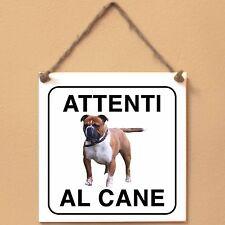 Old English Bulldog 2 Attenti al cane Targa cane cartello ceramic tiles