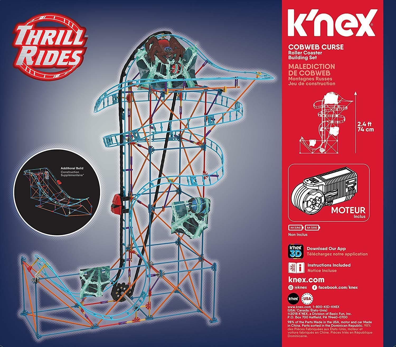 K'Nex Cobweb Curse Roller Coaster Building Set 473 pieces for ages 9+