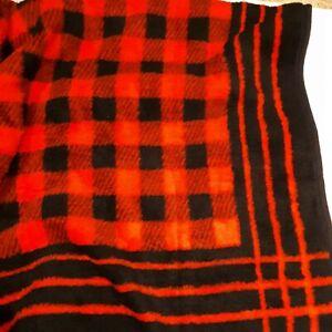 Vintage-Biederlack-Buffalo-Plaid-Full-Size-Blanket-or-Throw-Reversible-56-x-75-034