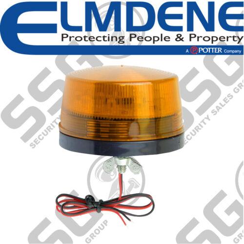 Elmdene LPB12-A-S Low Profile LED Beacon 12V DC Single Mount Amber