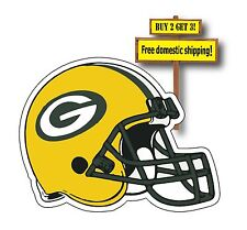 Green Bay Packers Helmet Football Decal/Sticker Die Cut Wisconsin NFL Rogers